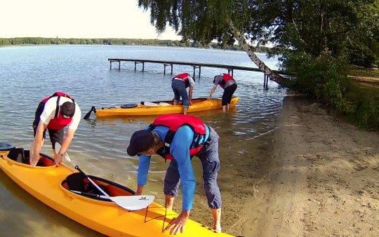Kajak, Kanu, SUP Board ausleihen, miieten in Berlin-Brandenburg am Motzener See bei Paddel Pit