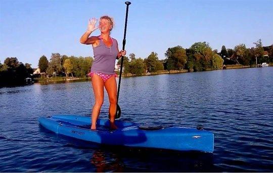 SUP Board mietenin der Nähe von Berlin in Motzen am Motzener See bei Paddel Pit