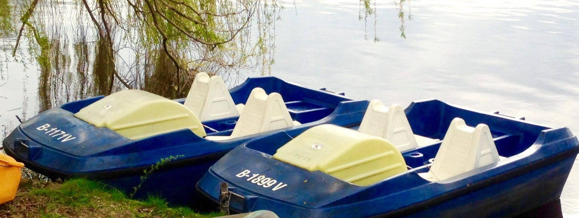 Tretboot leihen bei Berlin Bootsverleih Paddel Pit am Motzener See